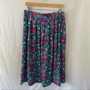 Vintage Leslie Fay Floral Skirt